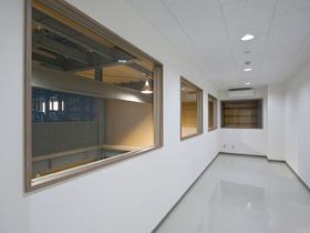 製紙会社の溶解処理工場 見学室